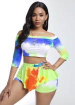 Summer Tie Dye Zweiteiliges Sexy Shorts Set