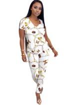 Conjunto de pantalones de mariposa de dos piezas casual de verano