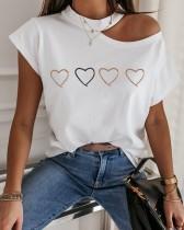 サマープリントカットアウトベーシックシャツ