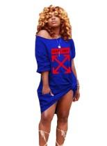 Summer Print Loose Shirt Dress
