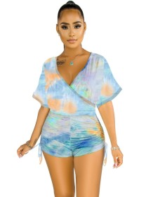 Summer Tie Dye Wrapped Rompers
