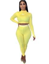Conjunto de pantalones de dos piezas Sexy Fitness
