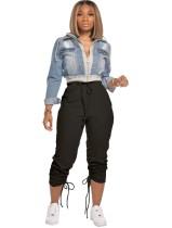 Pantalones de chándal con cordón transparente