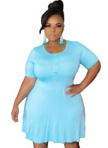 Plus Size Sheer Casual Kurzes Kleid