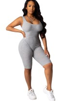 Summer Fitness Bodycon Rompers con ropa facial