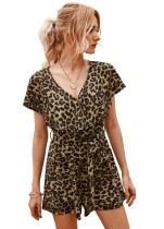 Summer Leopard Rüschen-Strampler mit V-Ausschnitt