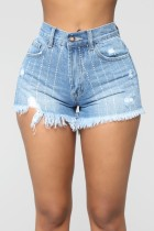 Sommer Hohe Taille Plüsch Jean Shorts