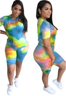 Summer Two Piece Tie Dye Short Set