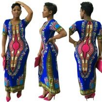 Vestido largo de verano con estampado Dashiki africano