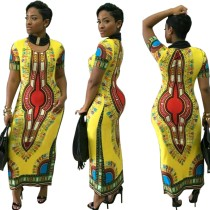 Robe d'été longue imprimée africaine Dashiki
