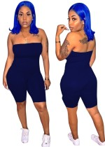 Summer Sexy Strapless Plain Bodycon Rompers
