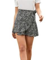 Minifalda con volantes y estampado de verano