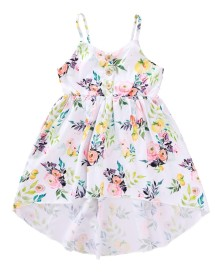 Kids Girl Summer Straps Floral Dress