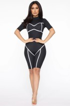 Summer Sports Black Bodycon Rompers