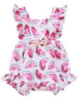 Baby Girl Summer Print Rüschen Strampler