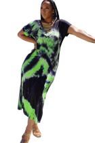 Vestido largo africano tie dye verano