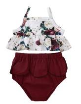 Baby Girl Summer zweiteiliges Blumen-Kurzset
