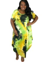 Robe longue africaine Tie Dye d'été