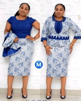 African Mother of the Bride Two Piece Dress Set