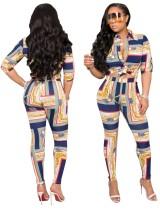 Conjunto de pantalones de dos piezas de estilo africano estampado