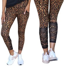 Summer Leopard Print Patchwork Leggings