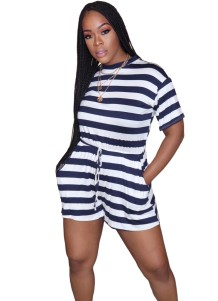 Summer Casual Drawstring Rompers