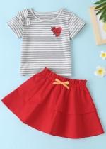 Детский летний комплект из двух частей юбки