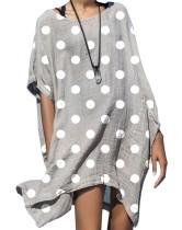 Vestido camisero de lunares de verano