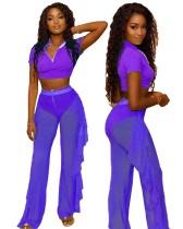 Conjunto de pantalones sexy de tres piezas