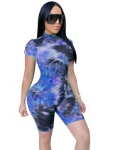 Summer Sexy Tie Dye Bodycon Rompers