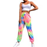 Summer Tie Dye Drawstring Track Pants