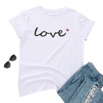 Sommer Print O-Neck Basic Shirt