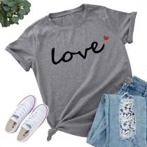 Zomerprint O-hals basic shirt
