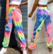 Summer Tie Dye Drawstring Track Pants