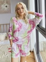 Pyjama court deux pièces Summer Tie Dye
