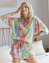 Conjunto de pijama corto de dos piezas Summer Dye Tie