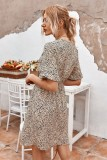 Zomer V-hals print korte casual jurk