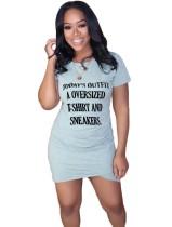 Verão impressão envolto mini camisa vestido