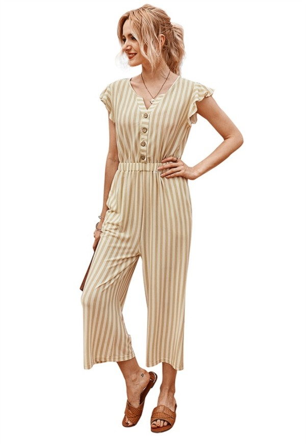 Sommer Casual Stripes Loose Jumpsuit