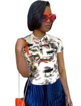 Afrikanisches Kurzdruck-Sommerhemd