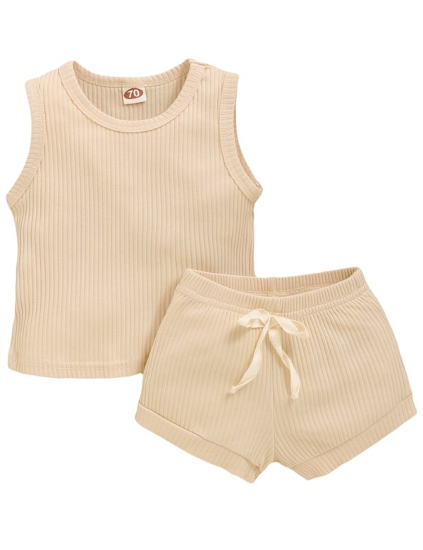 Kids Girl Summer Two Piece Leisure Kısa Set