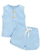 Set di pantaloncini per il tempo libero in due pezzi per bambina estate