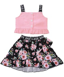 Kids Girl Summer Floral tweedelige rokenset