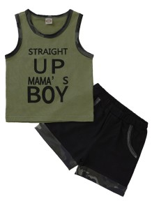 Kids Boy Summer Tweedelige Camou Short Set