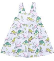 Vestido acampanado con estampado de verano para niña