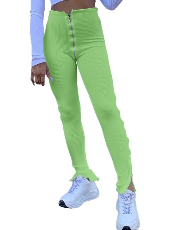 Sexy legging met hoge taille en ritssluiting