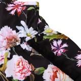 Pagliaccetti con cinturino floreale estivo per bambina