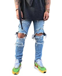 Herren Stylish Ripped Jeans