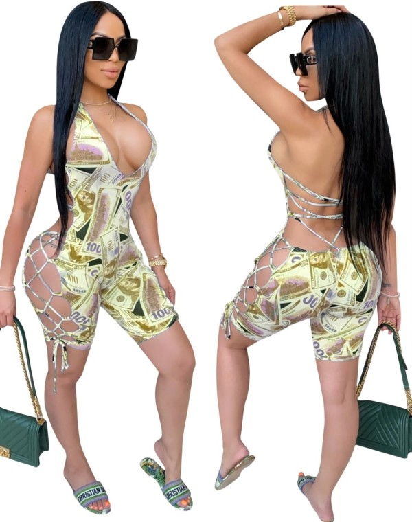 Mamelucos Bodycon Dólar Encaje Sexy
