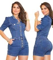 Pagliaccetti di jeans regolari estivi